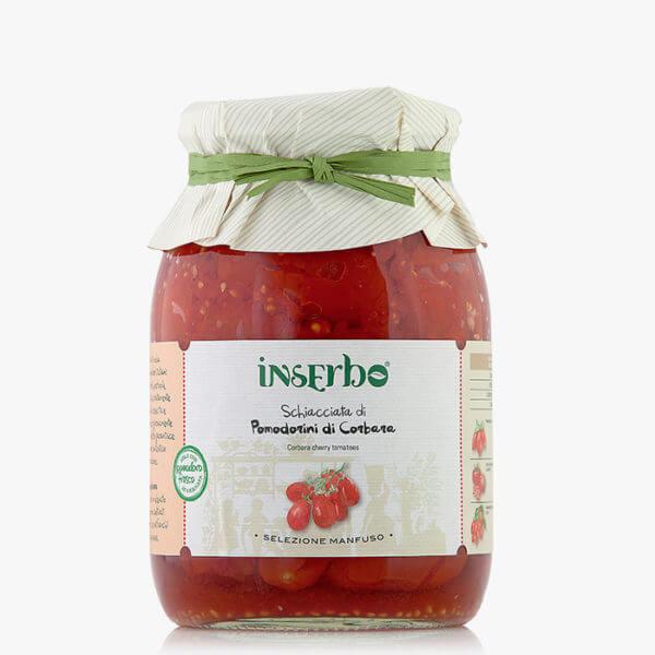 Inserbo Conserve BIO - Pomodorino di Corbara schiacciato al naturale 950gr.