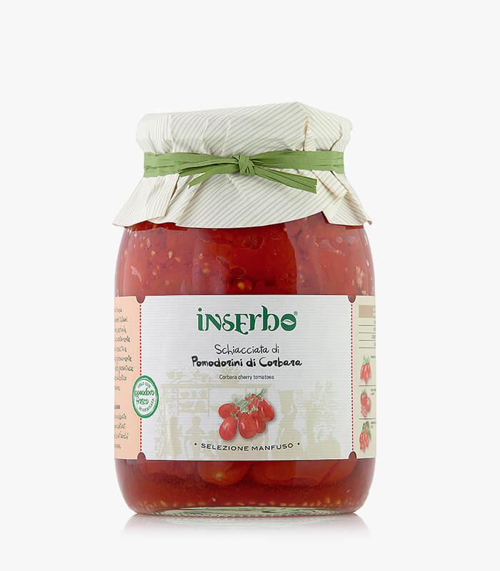 Inserbo Conserve BIO - Pomodorino di Corbara schiacciato al naturale 950g