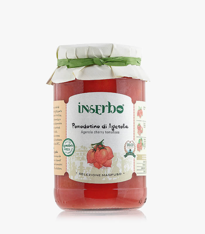 Inserbo Conserve BIO - Pomodorini di Agerola in succo 520gr.
