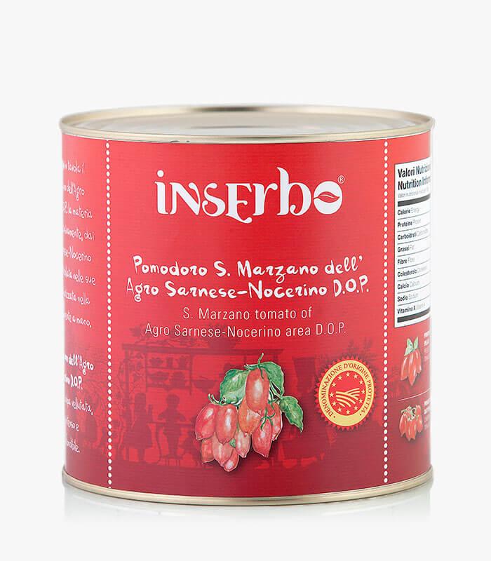 Inserbo Conserve BIO - Pomodoro San Marzano DOP in succo 2,5Kg. x 6pz