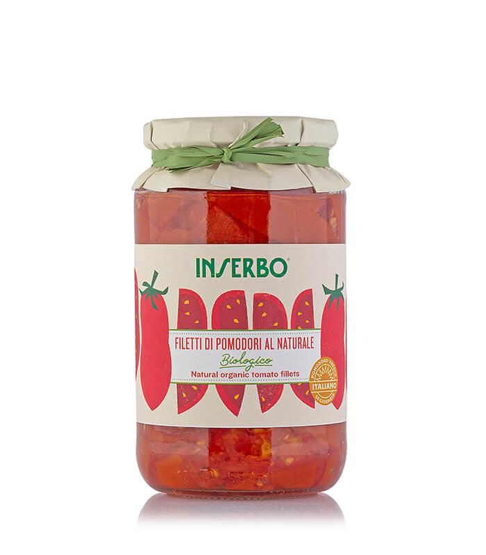 Inserbo Conserve BIO - Filetti di pomodori biologici al naturale 520g x 12pz