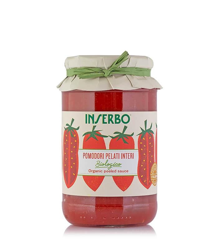 Inserbo Conserve BIO - Pomodori pelati biologici in succo 520g x 12pz