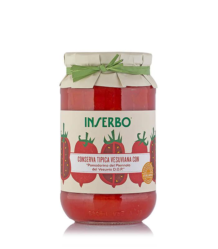 Inserbo Conserve BIO - Pomodorino del Piennolo del Vesuvio DOP in succo 520g x 12pz