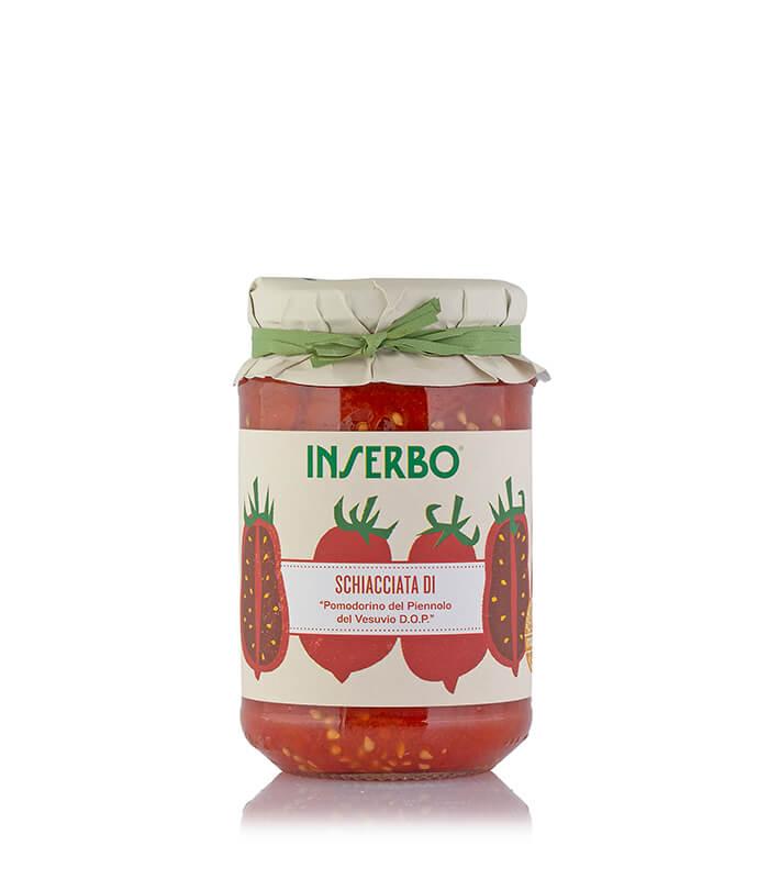 Inserbo Conserve BIO - Pomodorino del Piennolo del Vesuvio DOP schiacciato al naturale 350g x 12pz