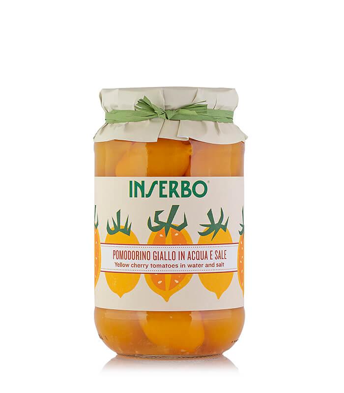 Inserbo Conserve BIO - Pomodorini gialli al naturale 520g x 12pz