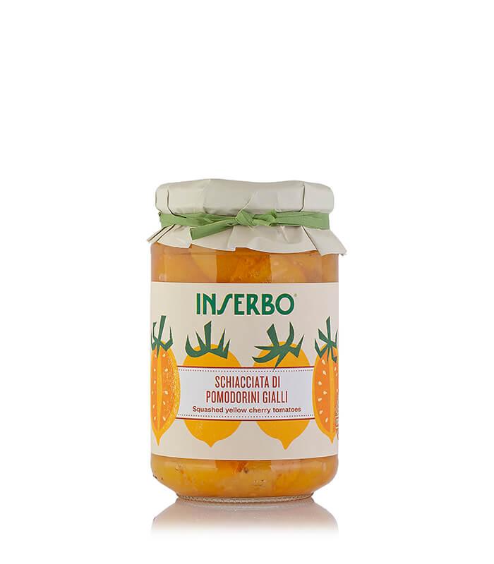 Inserbo Conserve BIO - Pomodorini gialli schiacciati al naturale 350g x 12pz