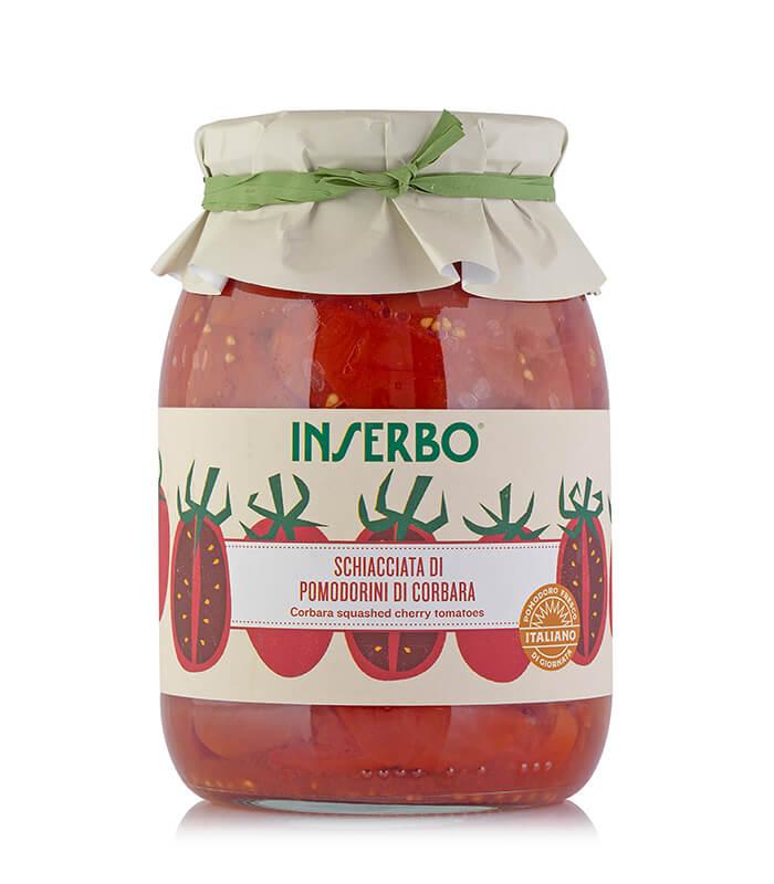 Inserbo Conserve BIO - Pomodorino di Corbara schiacciato al naturale 950g x 6pz