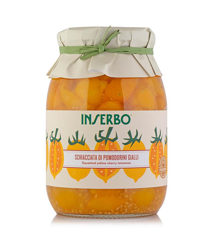Inserbo Conserve BIO - Pomodorini gialli schiacciati al naturale 950g x 6pz